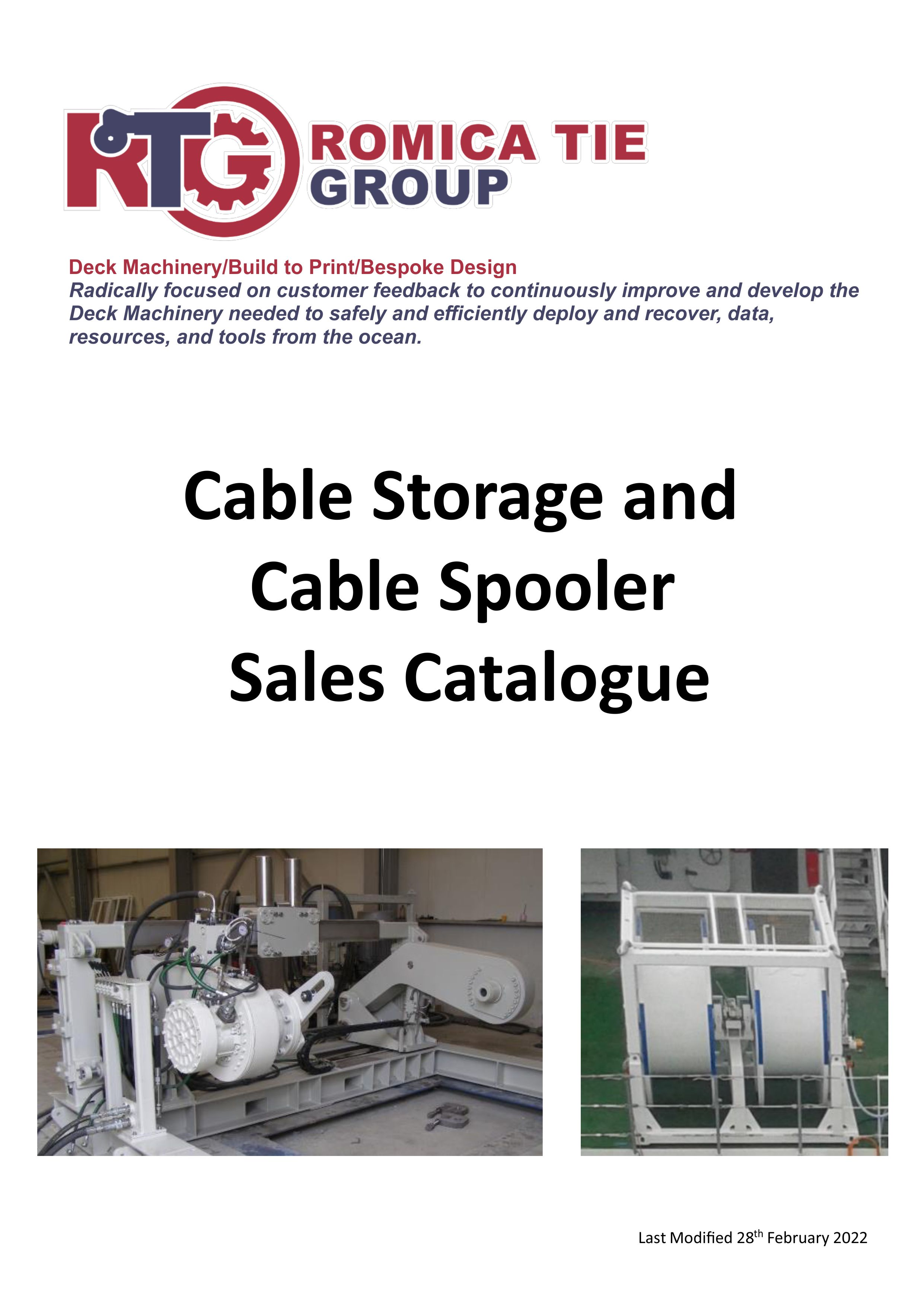 Cable Storage and Cable Spooler