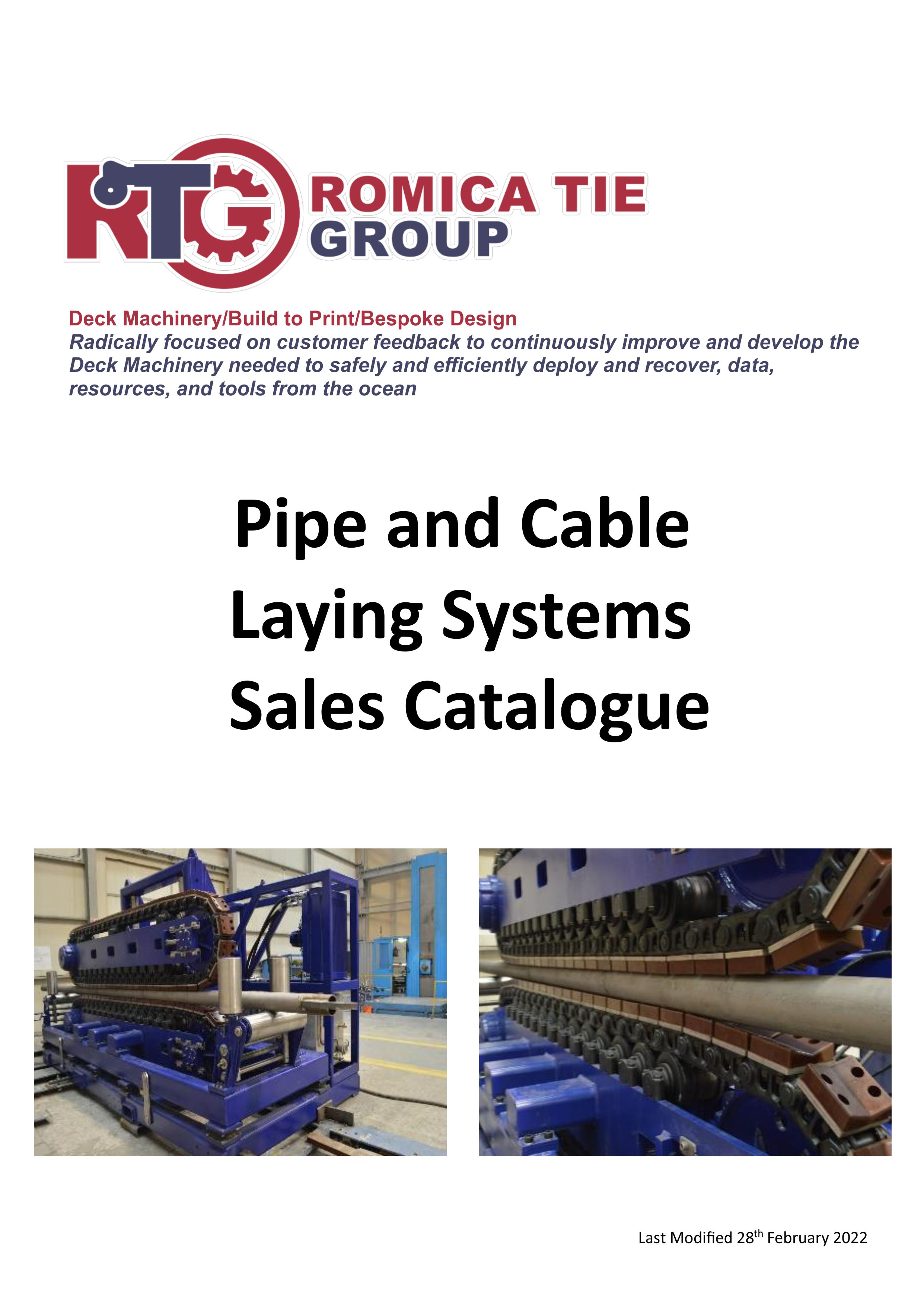 Pipe and Cable Laying Systems